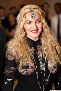 "NEW YORK, NY - MAY 02: Madonna attends ""Manus x Machina: Fashion In An Age Of Technology"" Costume Institute Gala at Metropolitan Museum of Art on May 2, 2016 in New York City. (Photo by Kevin Mazur/WireImage)"